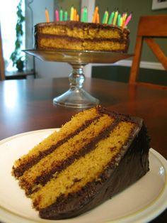 Vanilla Layer Cake with Dark Chocolate Frosting #paleo | paleomom.com