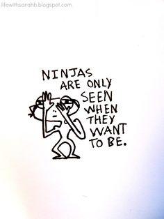 Life With SarahB funny, cartoon, joke, ninja.