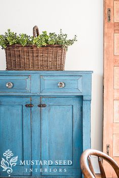 flow blue milk paint jelly cupboard | miss mustard seed