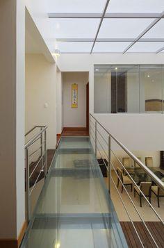 Glass floor first floor