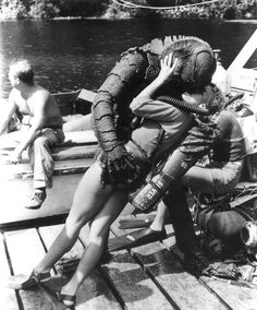 "Behind the scenes ""Revenge of the Creature [from the Black Lagoon]""  *Ooooh, scandal!"