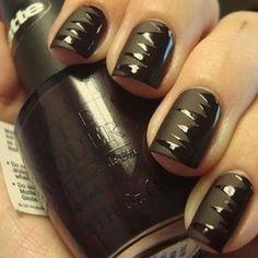 Black on black nails :)
