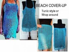 Beach Cover-Up swimsuit free crochet pattern tunic wrap around sarong