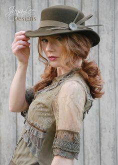 Rustic Bohemian Western Hat by Jaya Lee