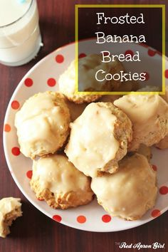 Frosted Banana Bread Cookies, these are the best.