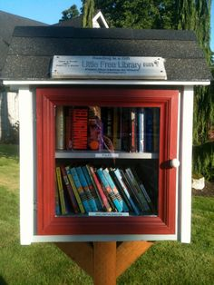How friendly!  A mini library in your front yard for neighbors.