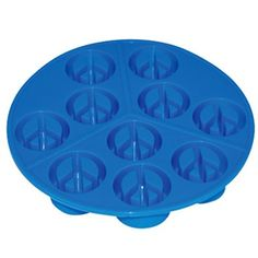Peace Sign Cube Ice Tray $8.95. yes, please!!!!