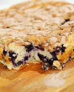 Egg-, nut-, and dairy-free Blueberry Cake, Wholeliving.com #healthy #desserts