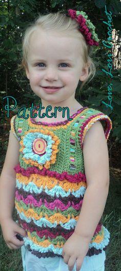 Pattern for Mexicali Garden Little Girl's Fun by LoveLoriCrochet, $9.00