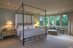 A stunning four post canopy princess bed. Napa, CA Coldwell Banker Brokers of the Valle