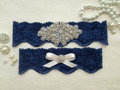 Blue garter belt