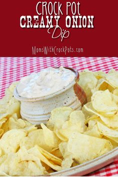 Crock Pot Creamy Onion Dip. Football season is in full force at my house. We are always looking for easy appetizers, and snack ...