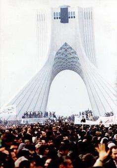 Protesters in Tehran, 1979