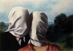 """Rene Magritte, """"Lovers"""""""