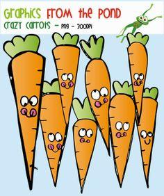 Crazy Carrots Clipart