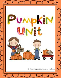 Pumpkin unit for Prek to grade 1. Pumpkin poems, pumpkin crafts, printable early reader books, math activities with pumpkins, pumpkin lifecycle activity and craft! Hands on fun! $