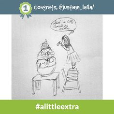 Congrats to @justme_laila - the #alittleextra the Daily Doodle Challenge winner of 500 SB for 9.10.14!