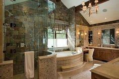 Wow Bathroom  Granite Ridge residence, Wyoming. Ellis Nunn Architects.