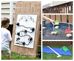 """Looks like 2 paw designs is playing Fleece Fun's version of """"Captain Hook's Ring Toss!""""  Pirate Birthday Party - 2paws Designs"""