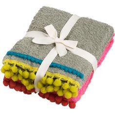 Pom Pom Towels $19.95
