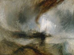 Snow Storm - Steam-Boat off a Harbour's Mouth / Joseph Mallord William Turner / exhibited 1842 / oil on canvas