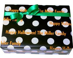 Black Dots Personalized Gift Wrap