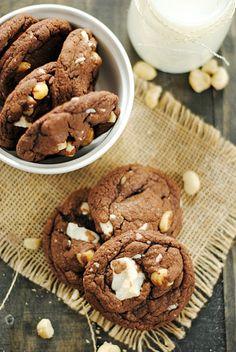 Chocolate White Chocolate Macadamia Nut Cookies