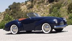 """The 1940 Coachcraft Roadster is considered an automotive design and concept milestone. It accurately predicted in size, shape and stance sports cars of the 1950's and early 60's such as the Porsche 356, XK120, A.C. and MG cars. It also foreshadowed Carroll Shelby's concept of dropping a performance Ford V-8 in a light sports car body by two decades. Strother MacMinn called this automobile the """"first American custom sports car."""""""