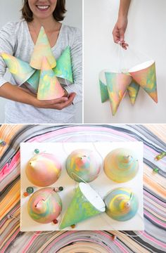 Marbleized Party Hats DIY | Oh Happy Day!