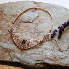 I love love love her work! Check it out! Celtic Queen Necklace - Bronze with Smokey Quartz, Citrine and Pearls