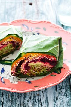FATTY LIVER DIET FOODS - Raw food - Sprouted quinoa Collard Wraps. Reverse, treat & cure fatty liver disease by following a raw food liver cleansing detox diet.