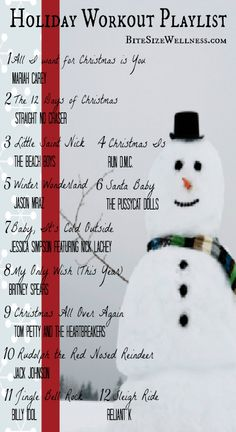 12 Upbeat Christmas Songs for your Winter Workout--I'm not late for 2012, I'm just really early for 2013!