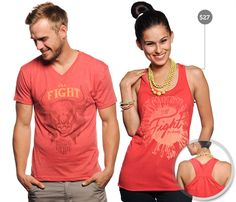 The latest from Sevenly in support of the National Breast Cancer Foundation.  Super cute design and I love the coral pink color here.  One design, one week, one charity.  :)