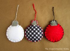 DIY Felt Ornaments plus 5 other homemade sewn gifts you can make! christmas gift ideas, homemade christmas gifts, craft, felt ornaments, felt christmas ornaments, christma ornament, christmas gifts homemade sewn, pottery barn, christmas trees
