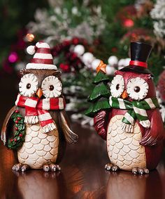 Take a look at this Decorative Holiday Owl Set by Evergreen on #zulily today!