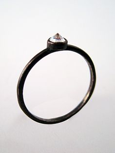 inverted diamond ring by Alex and Chloe