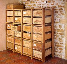 Caisses de vin on pinterest wine crates wine boxes and - Caisse a vin decoration ...
