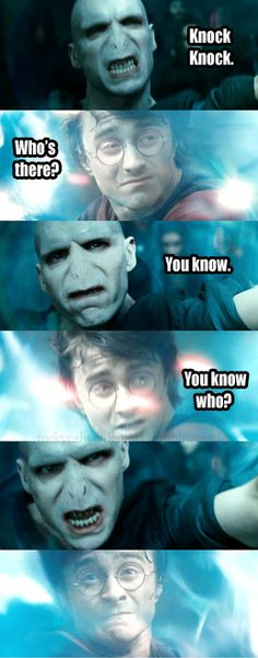 Knock knock. Who's there? You know. You know who? Haha it's a super nerdy joke, but it gets me every time
