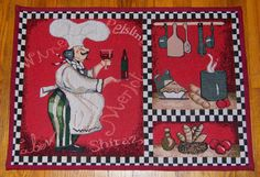 Italian FAT CHEF Decor Bistro Wine Kitchen Accent Tapestry Rug Floor Mat (19x28) | eBay