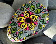 Joyful Lotus Flower / Painted Rock / Sandi Pike Foundas