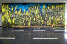 Forest Spirit mural by Janaina Tschäpe. Located in the #USF School of Music lobby.