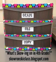 What's Skow-ing on in 4th Grade??: Classroom Management Projects