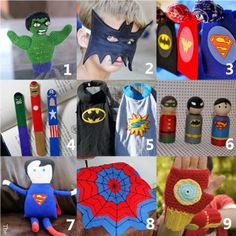 superhero crafts roundup for kids of all ages!