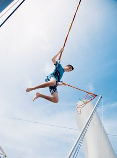 Try out the bungee on board Norwegian Epic! Yes please! #NorwegiansPinToWin