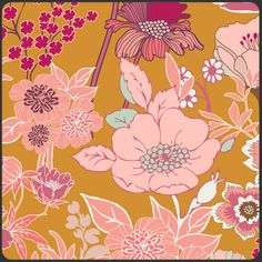 Beyond Bliss Ginger in Summerlove collection by Pat Bravo for Art Gallery Fabrics.