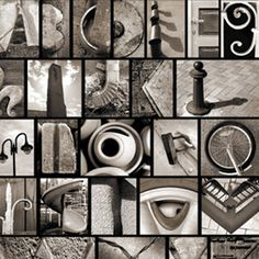 take pictures of objects that look like letters and frame them to spell out names.  I want to do this SO bad!