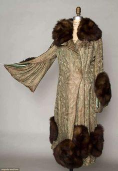 Lame & Silk Evening Coat, Paris, 1915-1918, Augusta Auctions