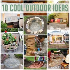 Get Inspired: 10 Cool Outdoor Ideas. Makes you really want Spring weather!!