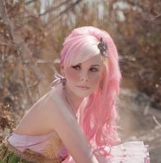 pretty pink hair :)