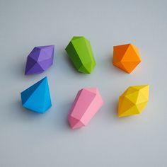 3D Paper gems